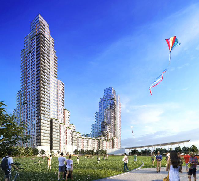 Rendering of Hunters Point South Parcel C, a TF Cornerstone Residential Development