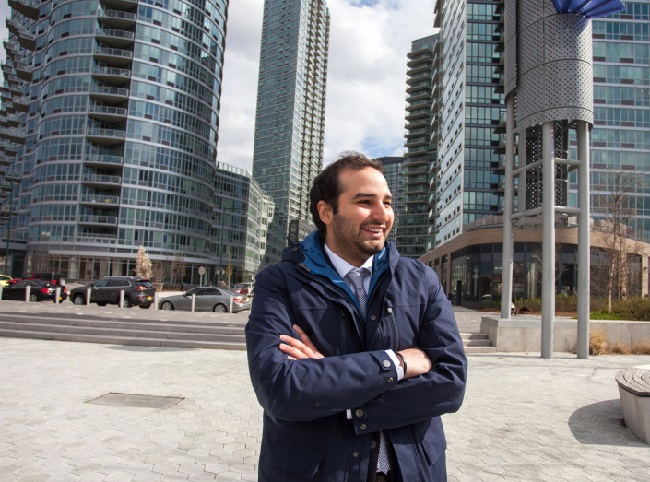 Max Elghanayan on the LIC Waterfront at the corner of Center Blvd, via Real Estate Weekly