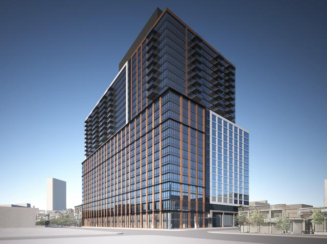 Rendering of 33 Bond Street, a TF Cornerstone Residential Development in Downtown Brooklyn, NYC